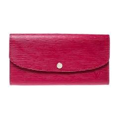 Louis Vuitton Fuchsia Epi Leather Sarah Wallet