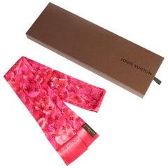 Louis Vuitton Fuchsia Logo Silk Twill with Box