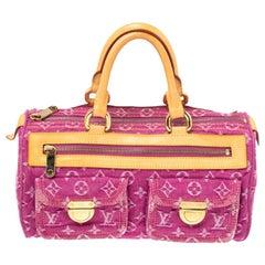 Louis Vuitton Fuchsia Monogram Denim Neo Speedy Bag