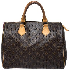 Louis Vuitton Fuchsia Monogram Perforated Canvas Limited Edition Speedy 30 Bag