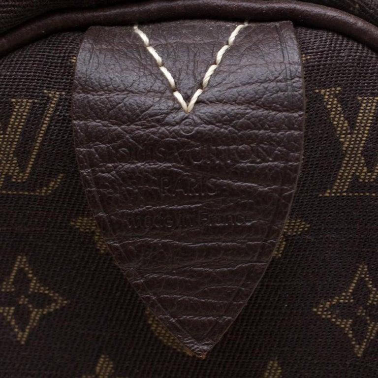 Louis Vuitton Fusain Monogram Canvas Mini Lin Speedy 30 Bag 5