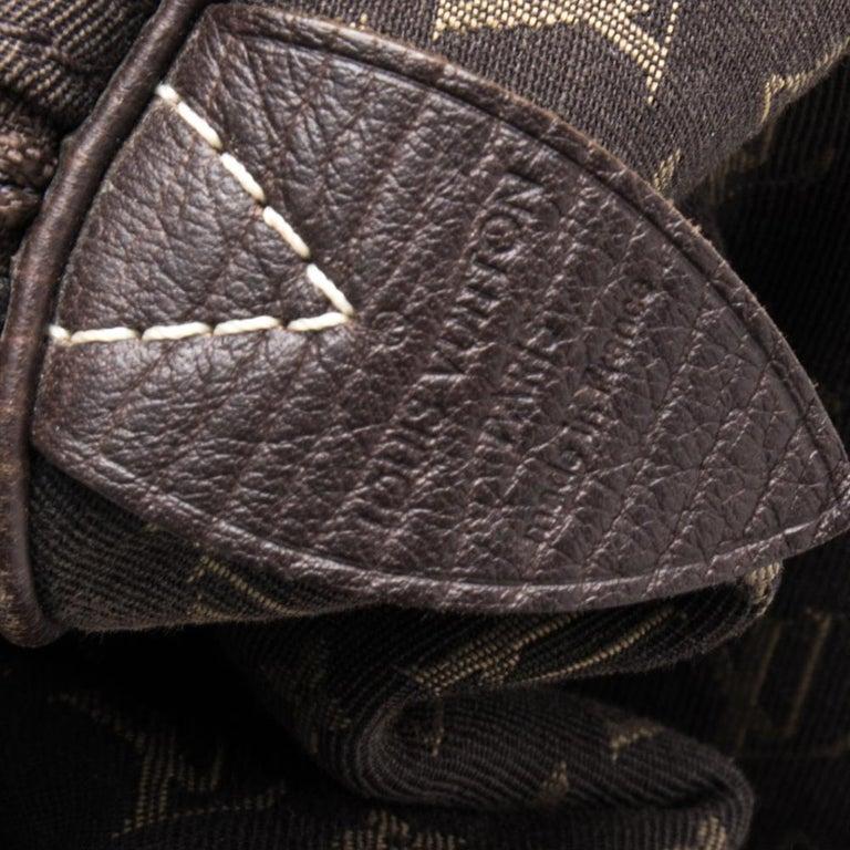 Louis Vuitton Fusain Monogram Canvas Mini Lin Speedy 30 Bag For Sale 5