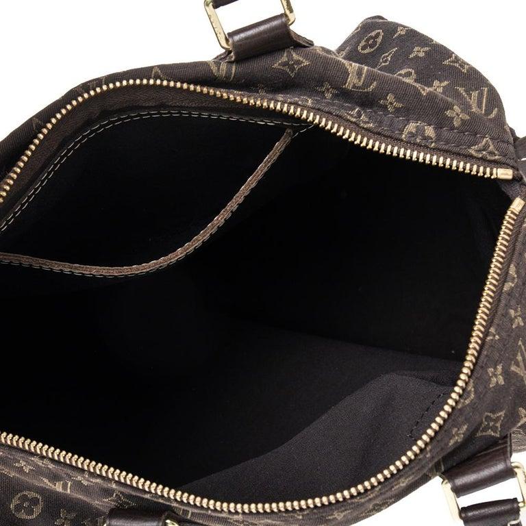 Louis Vuitton Fusain Monogram Canvas Mini Lin Speedy 30 Bag For Sale 6