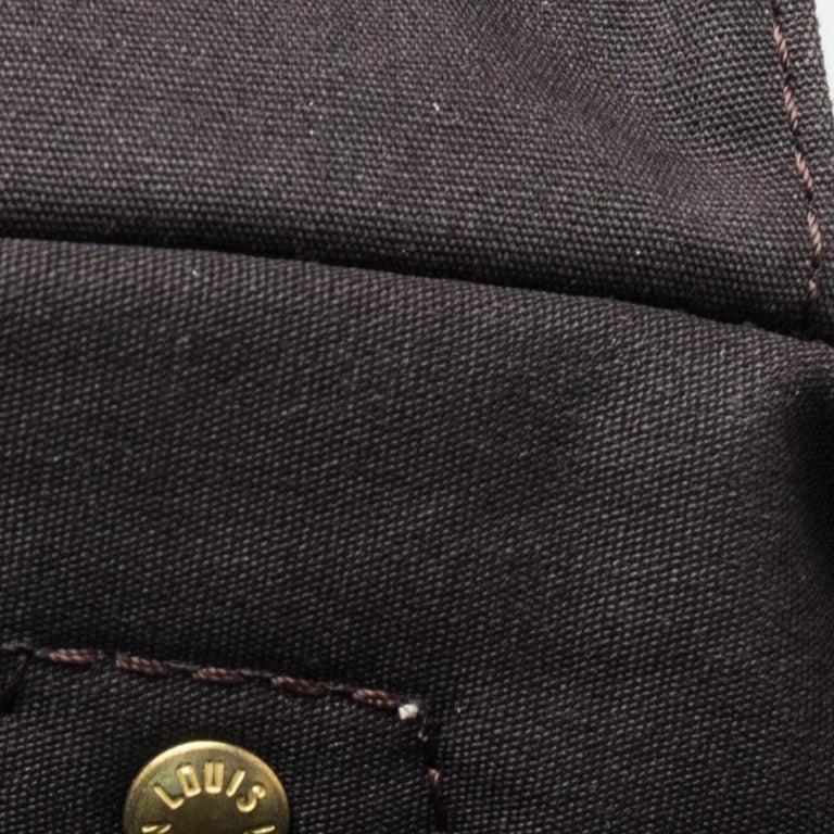 Louis Vuitton Fusain Monogram Canvas Mini Lin Speedy 30 Bag For Sale 7