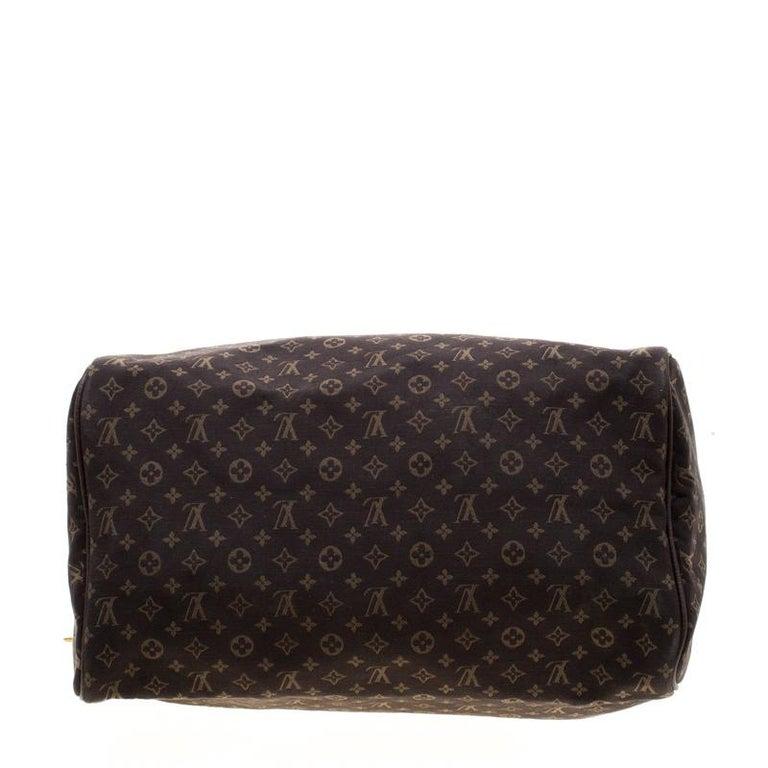 Women's Louis Vuitton Fusain Monogram Canvas Mini Lin Speedy 30 Bag