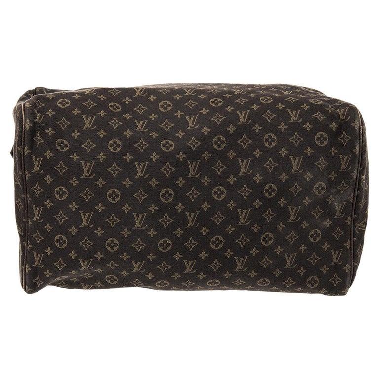 Women's Louis Vuitton Fusain Monogram Canvas Mini Lin Speedy 30 Bag For Sale