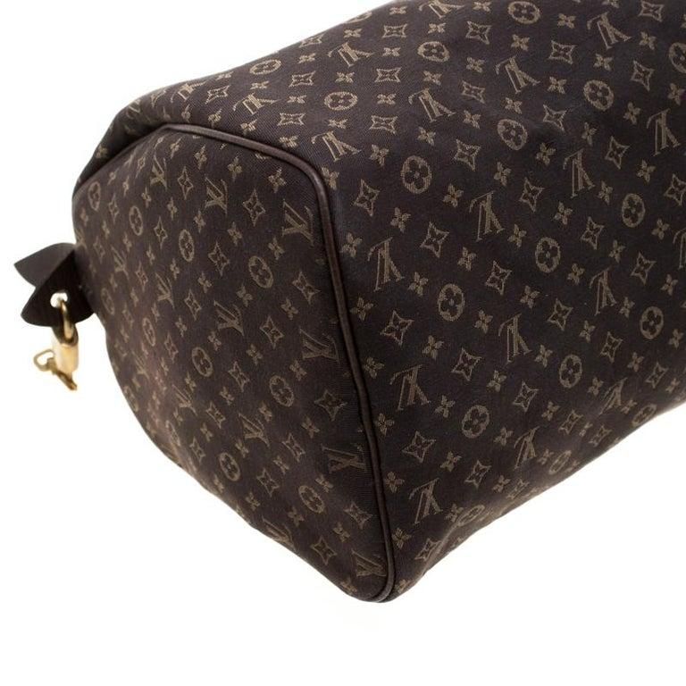 Louis Vuitton Fusain Monogram Canvas Mini Lin Speedy 30 Bag 1