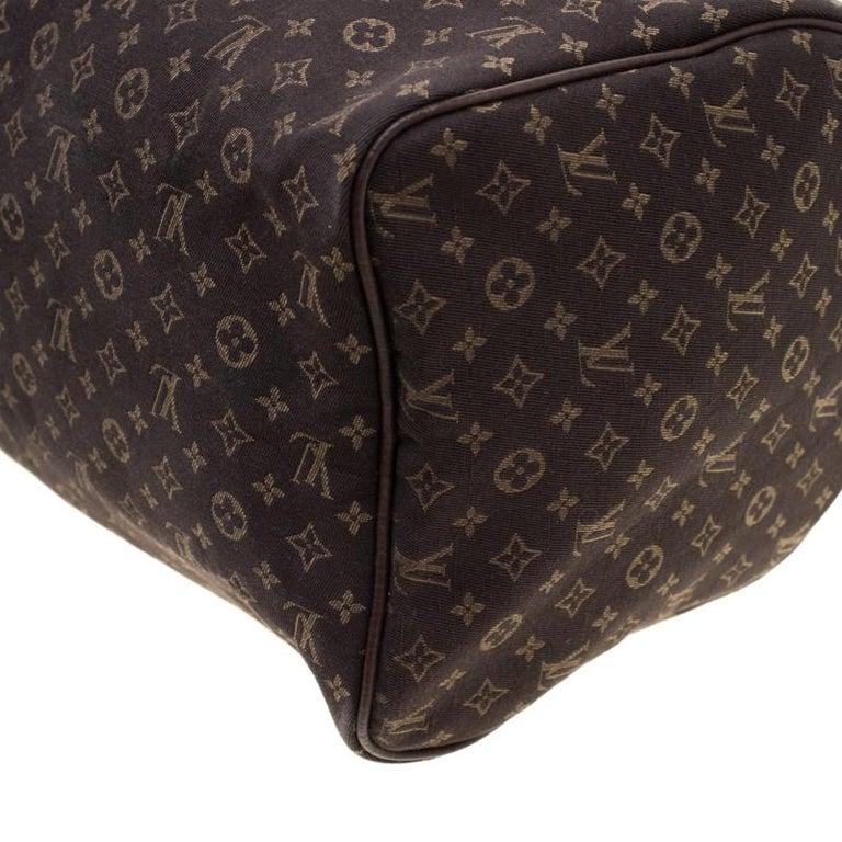 Louis Vuitton Fusain Monogram Canvas Mini Lin Speedy 30 Bag 2