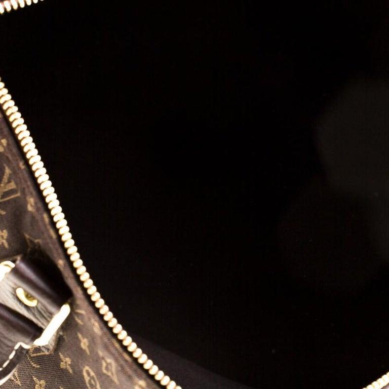 Louis Vuitton Fusain Monogram Canvas Mini Lin Speedy 30 Bag 4