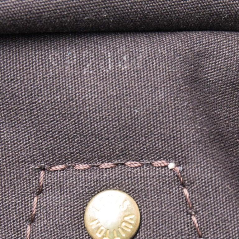 Louis Vuitton Fusain Monogram Canvas Mini Lin Speedy 30 Bag For Sale 4