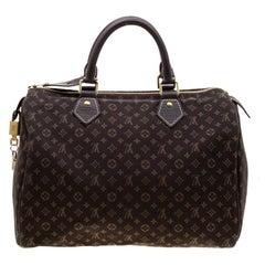 Louis Vuitton Fusain Monogram Canvas Mini Lin Speedy 30 Bag