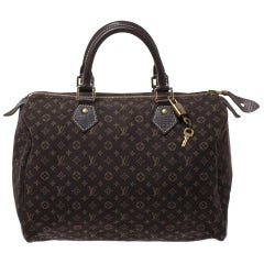 Louis Vuitton Fusain Monogram Canvas Mini Lin Speedy 30 Bag