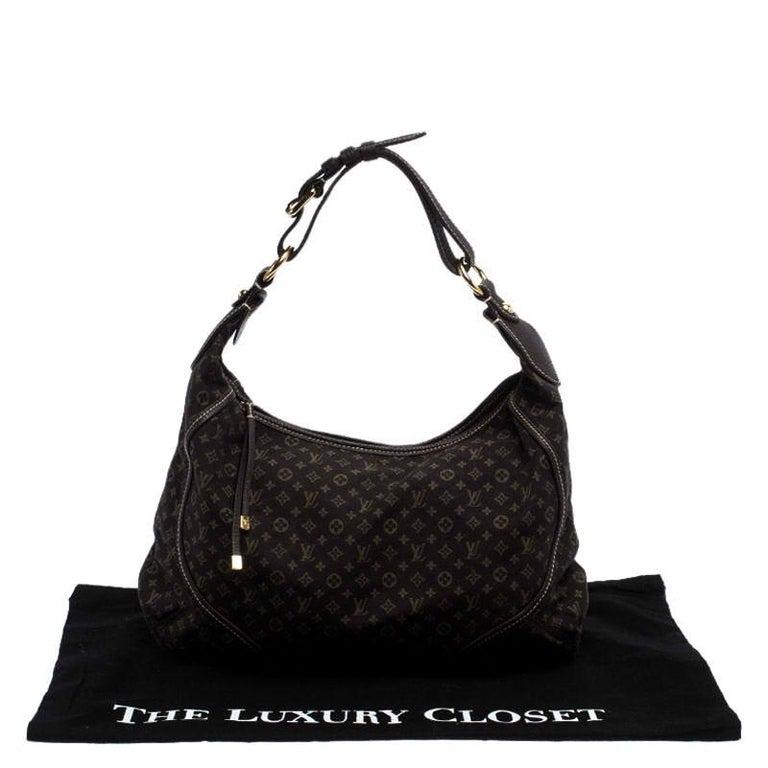 Louis Vuitton Fusain Monogram Mini Lin Manon MM Bag For Sale 7