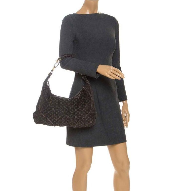 Louis Vuitton Fusain Monogram Mini Lin Manon MM Bag In Good Condition For Sale In Dubai, Al Qouz 2