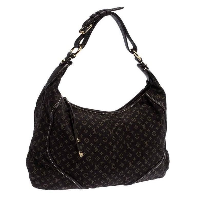 Women's Louis Vuitton Fusain Monogram Mini Lin Manon MM Bag For Sale