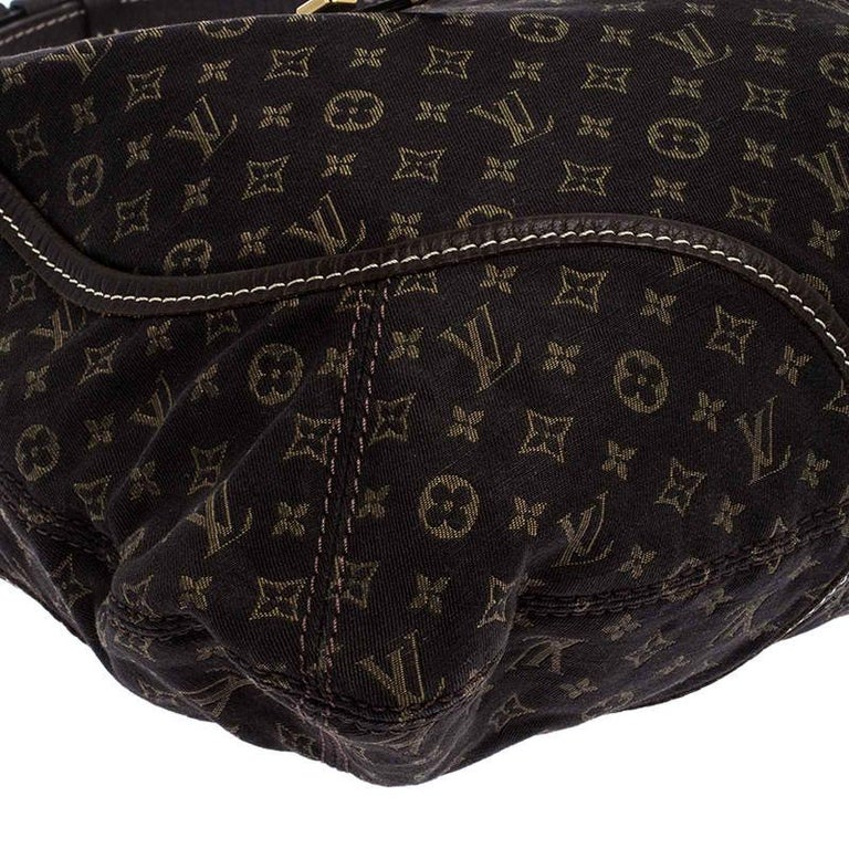 Louis Vuitton Fusain Monogram Mini Lin Manon MM Bag For Sale 2
