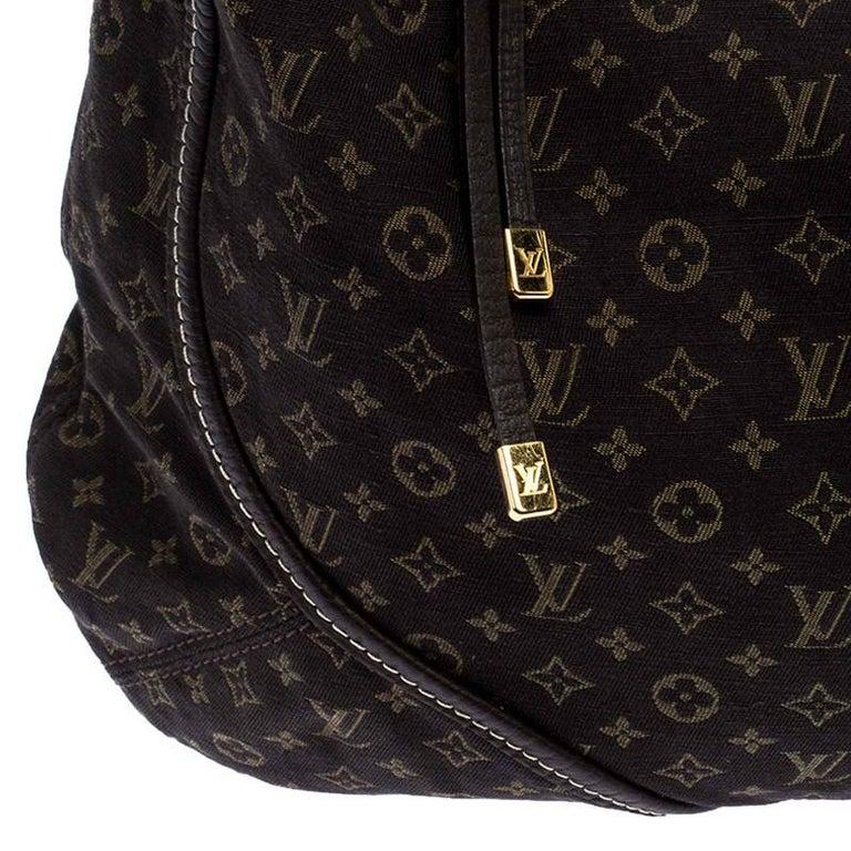 Louis Vuitton Fusain Monogram Mini Lin Manon MM Bag For Sale 3