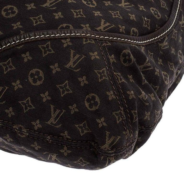 Louis Vuitton Fusain Monogram Mini Lin Manon MM Bag For Sale 4