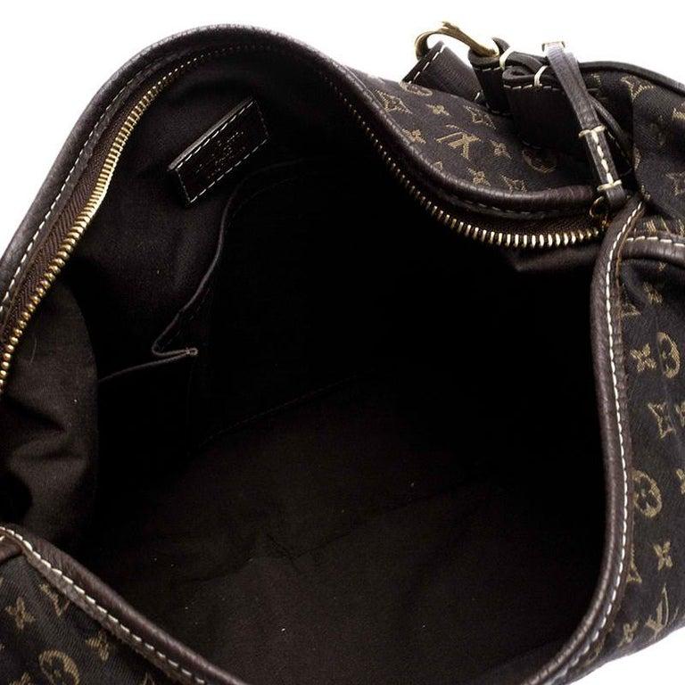 Louis Vuitton Fusain Monogram Mini Lin Manon MM Bag For Sale 5