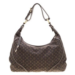 Louis Vuitton Fusain Monogram Mini Lin Manon MM Bag