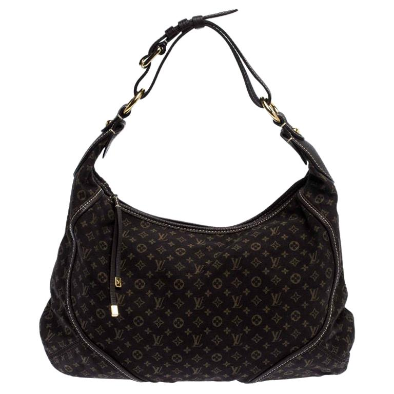 Louis Vuitton Fusain Monogram Mini Lin Manon MM Bag For Sale