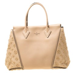 Louis Vuitton Galet Beige Monogram Velvet and Veau Cachemire Leather W PM Bag