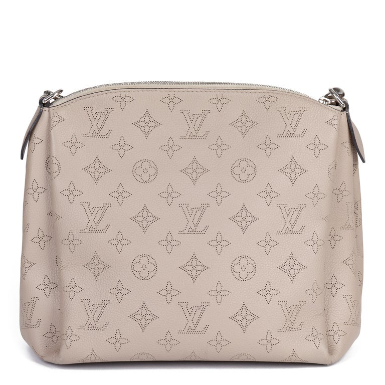 Women's Louis Vuitton Galet Perforated Mahina Calfskin Leather Babylon BB For Sale