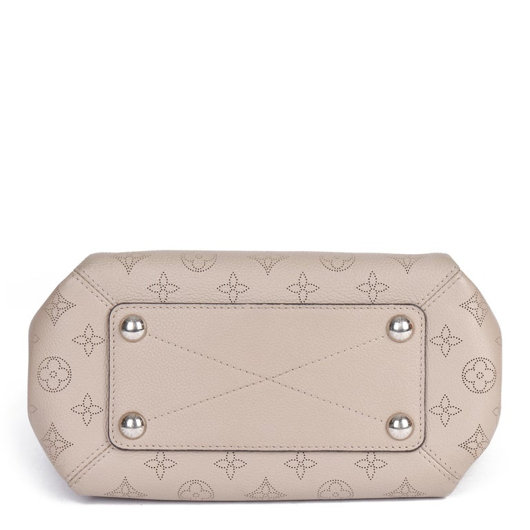 Louis Vuitton Galet Perforated Mahina Calfskin Leather Babylon BB For Sale 1