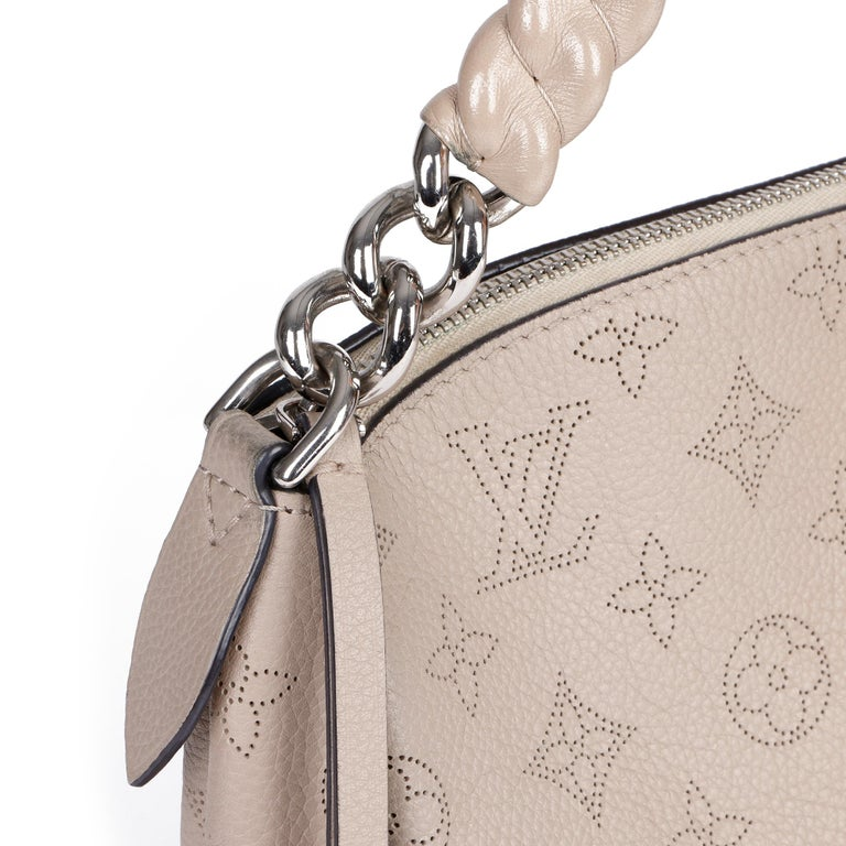 Louis Vuitton Galet Perforated Mahina Calfskin Leather Babylon BB For Sale 2