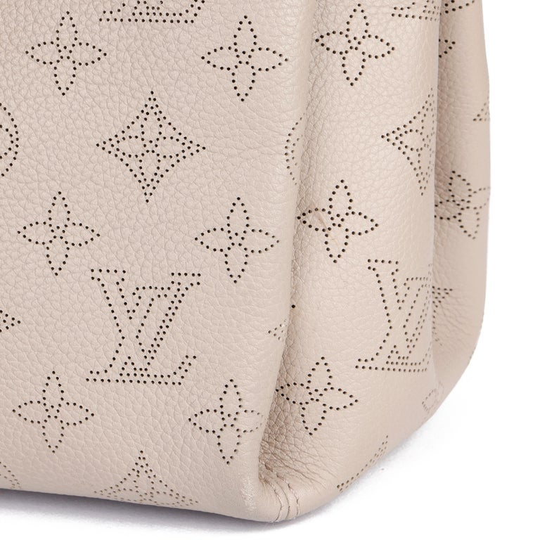 Louis Vuitton Galet Perforated Mahina Calfskin Leather Babylon BB For Sale 3
