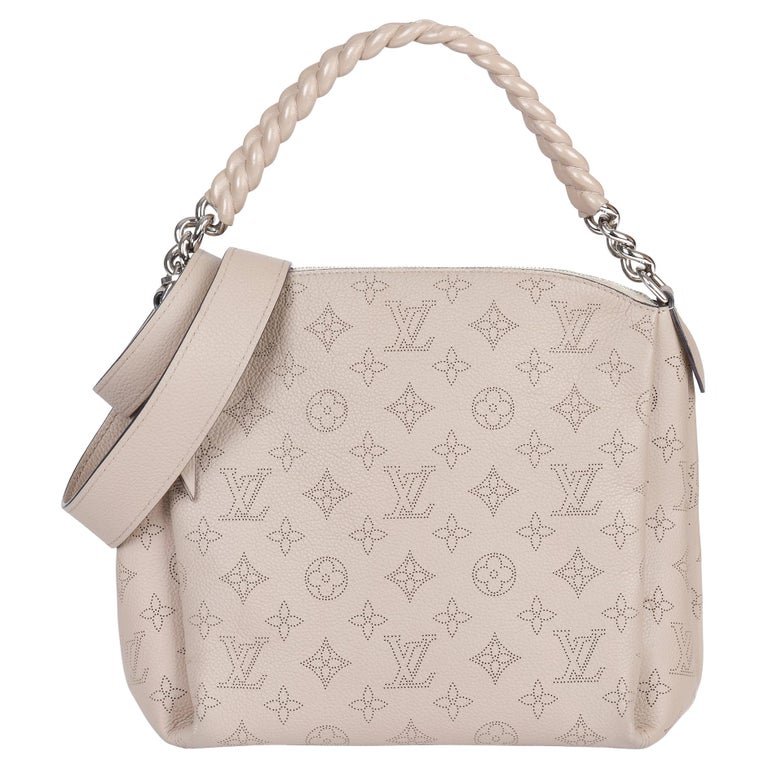 Louis Vuitton Galet Perforated Mahina Calfskin Leather Babylon BB For Sale
