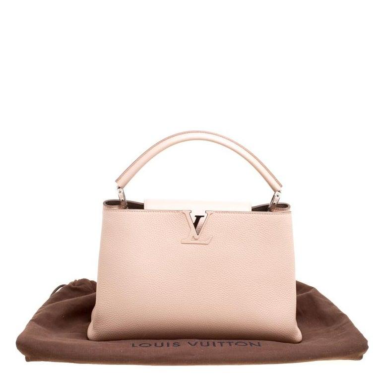 Louis Vuitton Galet Taurillon Leather Capucines MM Bag For Sale 5
