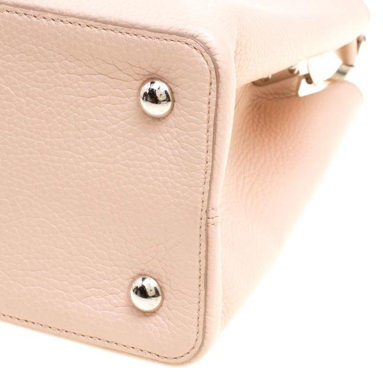 Louis Vuitton Galet Taurillon Leather Capucines MM Bag For Sale 7
