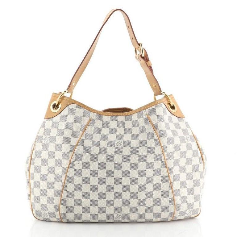 Beige Louis Vuitton Galliera Handbag Damier PM For Sale