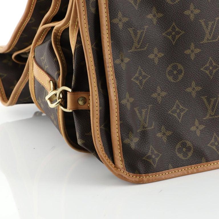 Louis Vuitton Garment Carrier Bag Monogram Canvas Two Hangers For Sale 6