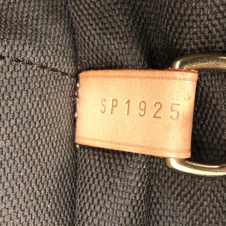 Louis Vuitton Garment Carrier Bag Monogram Canvas Two Hangers For Sale 8