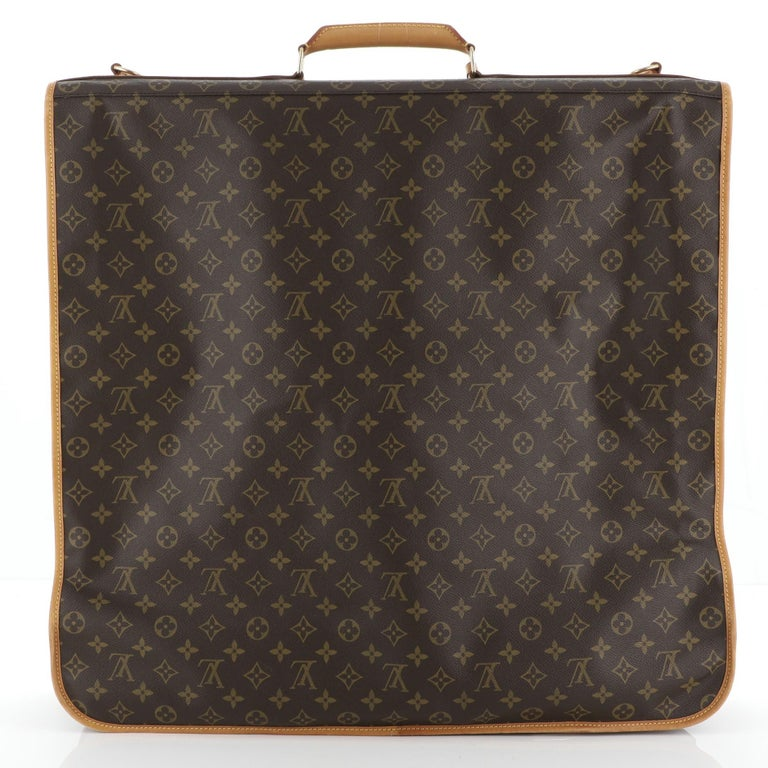 Women's or Men's  Louis Vuitton Garment Carrier Bag Monogram Canvas Two Hangers For Sale