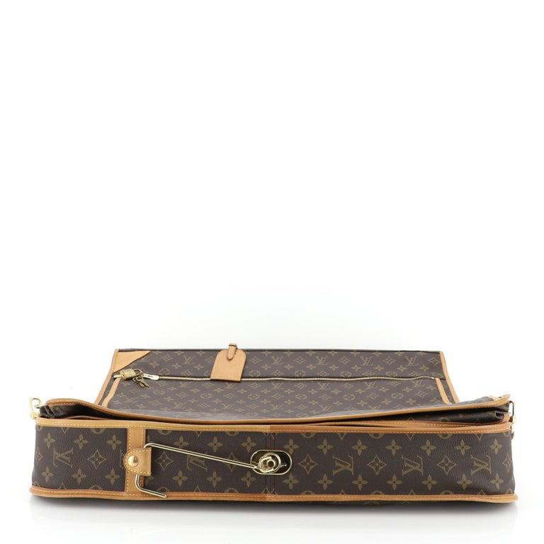 Louis Vuitton Garment Carrier Bag Monogram Canvas Two Hangers For Sale 1