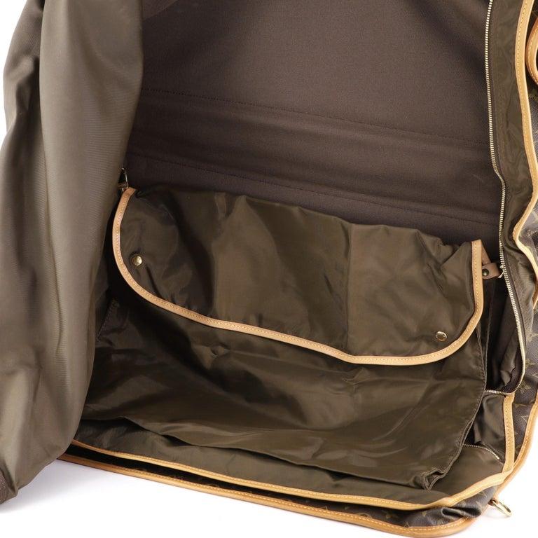 Louis Vuitton Garment Carrier Bag Monogram Canvas Two Hangers For Sale 2