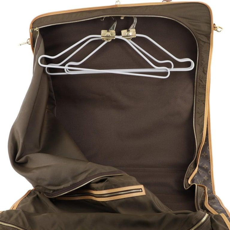 Louis Vuitton Garment Carrier Bag Monogram Canvas Two Hangers For Sale 3