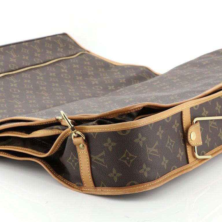 Louis Vuitton Garment Carrier Bag Monogram Canvas Two Hangers For Sale 4