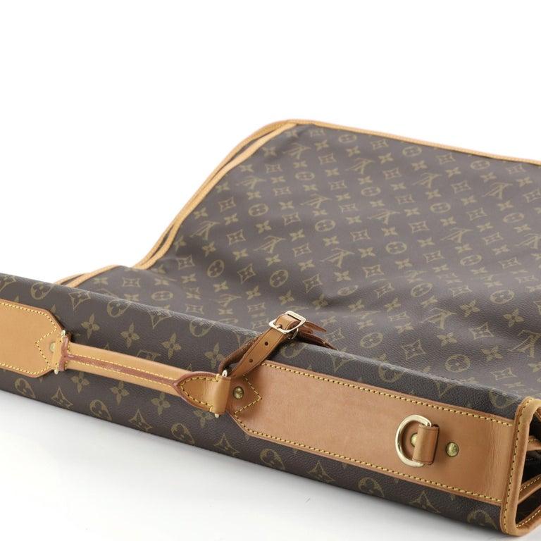 Louis Vuitton Garment Carrier Bag Monogram Canvas Two Hangers For Sale 5