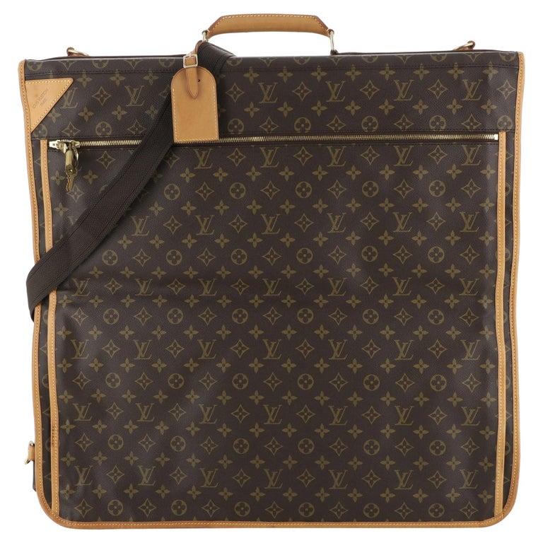 Louis Vuitton Garment Carrier Bag Monogram Canvas Two Hangers For Sale