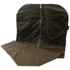 Louis Vuitton Garment Cover Khaki with Hanger 868894 Green Nylon Weekend/Travel