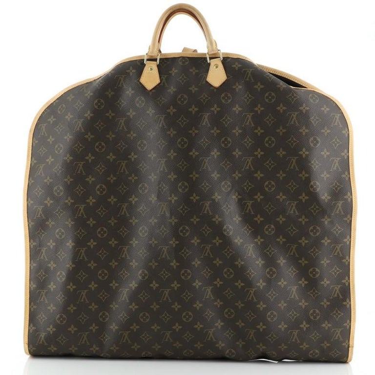Black Louis Vuitton Garment Cover Monogram Canvas For Sale