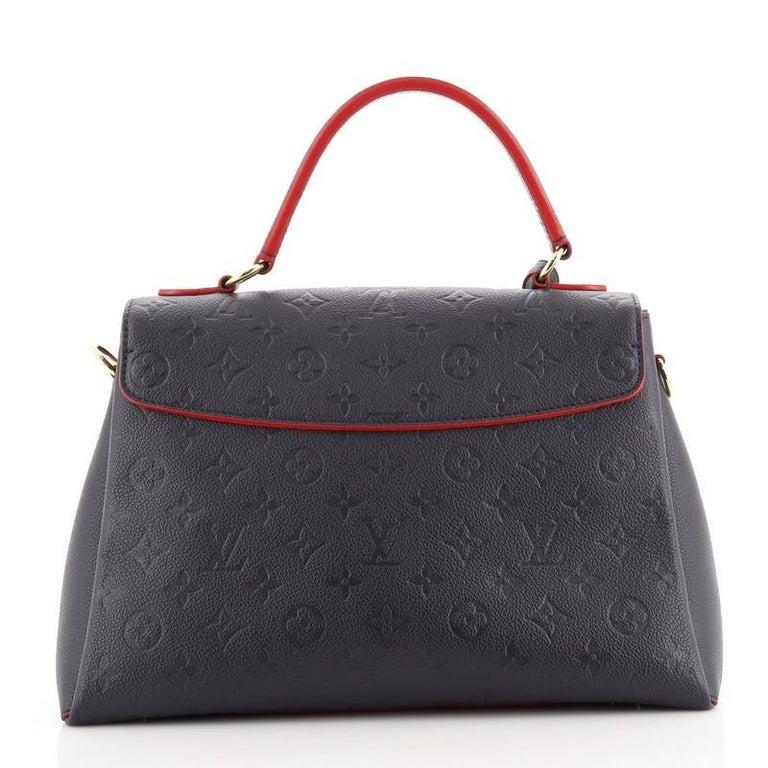 Black Louis Vuitton Georges Handbag Monogram Empreinte Leather MM For Sale