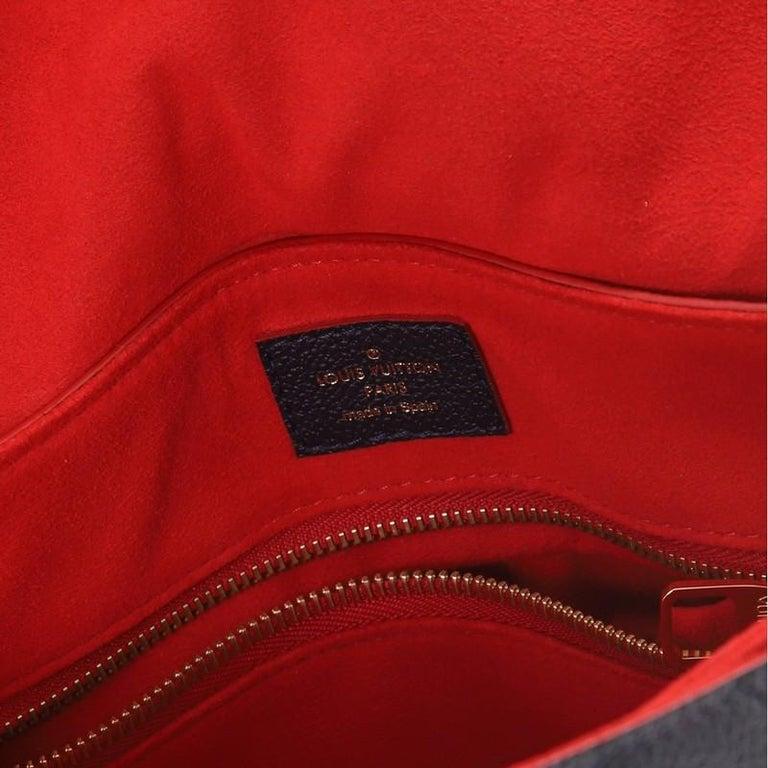 Louis Vuitton Georges Handbag Monogram Empreinte Leather MM For Sale 1