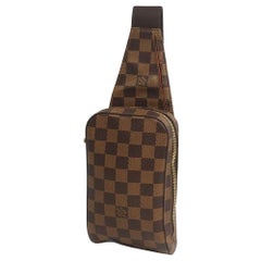 LOUIS VUITTON Geronimos unisex body bag N51994 Damier ebene