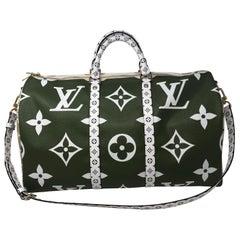 Louis Vuitton Giant Green Keepall 50 Bandouliere