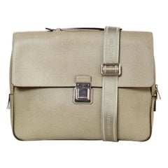 Louis Vuitton Glacier Grey Taiga Leather Vassili PM Messenger Bag rt. $3,300